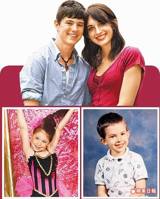 艾倫(左)以前是可愛的小女生(左下),他的女友凱蒂以前則是男生(右下)。翻攝英國《太陽報》